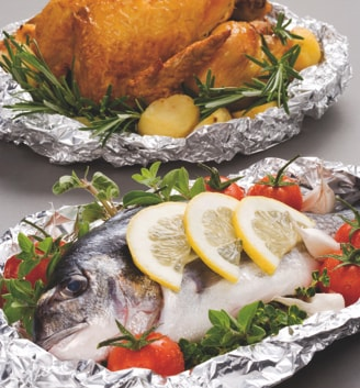 Avvolgenti per alimenti in alluminio per alimenti