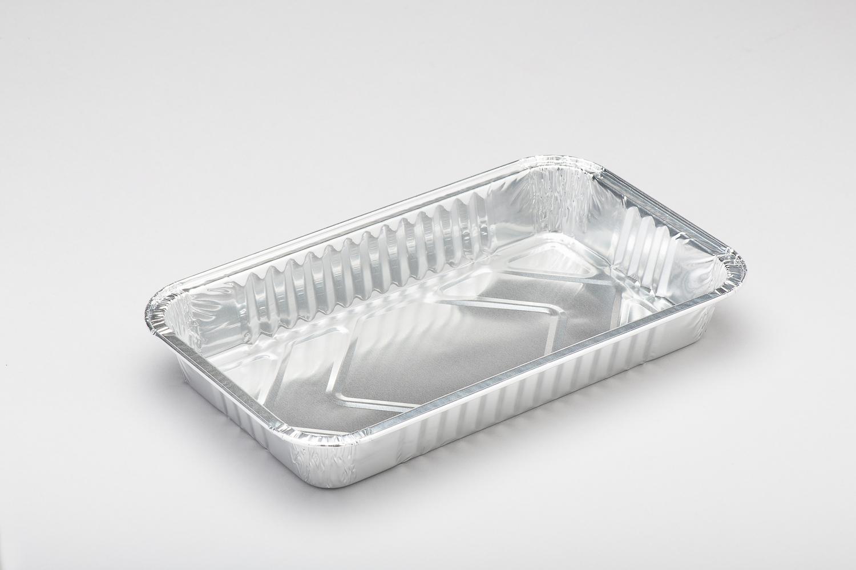 Contenitori in alluminio rettangolari bordo G per alimenti