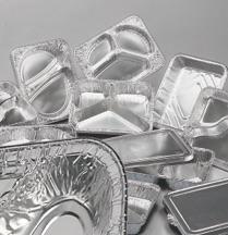 Contenitori in alluminio e coperchi multipli