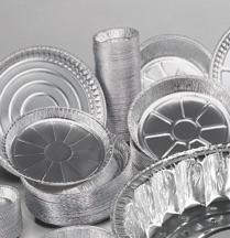 Contenitori in alluminio e coperchi contenitori rotondi