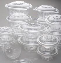 Contenitori in plastica in polietilene tereftalato a ciotola
