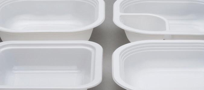 Contenitori in plastica in polipropilene bianco