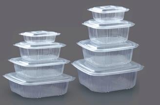 Contenitori in plastica in forma quadrata di varie dimensioni