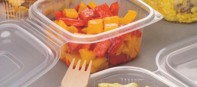 Contenitori in plastica per gastronomia a caldo