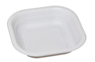 Contenitori compostabili piatto fondo per l'industria alimentare