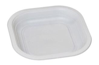 Contenitori compostabili piatto piano per l'industria alimentare