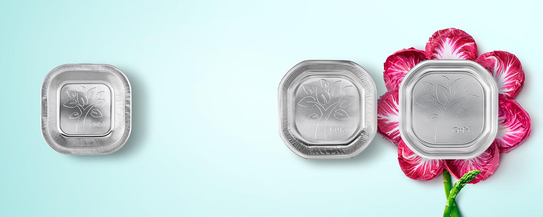 Resistenti e amici dell'ambiente: i nuovi piatti in alluminio Cuki.